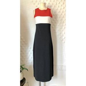 Jalate Red White Black Colorblock DRESS TOMMY